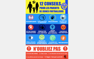 Ecole de Football - convocation du 28 septembre 2019